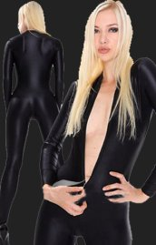 Black Bodysuit | Spandex Lycra Catsuit without Hood
