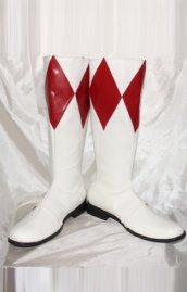Power Ranger- Mighty Morphin Red and White Boots