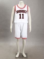 SLAM DUNK- Kaede Rukawa 2G-Shohoku Middle School Basketball Uniform –White No. 11
