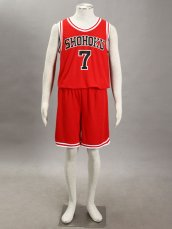 SLAM DUNK- Ryota Miyagi 1G-Shohoku Middle School Basketball Uniform –Red No.7