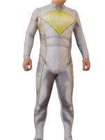 White Power Ranger Printed Spandex Lycra Zentai Costume with 3D Muscle Shading