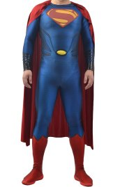 [Platinum] Puff Printed Superman Spandex Lycra Costume