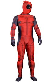 Advanced Sewed Movie Deadpool Printed Spandex Lycra Zentai Costume with 3D Muscle Shades