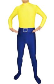 Alias the Spider Costume| Yellow and Royal Blue Super Hero Zentai Costume