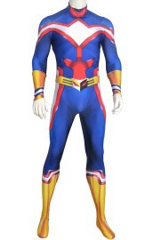 All Might Printed Spandex Lycra Costume with Muscle Shadings