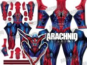ALL NEW SPIDER-MAN Dye-Sub Printed Spandex Lycra Costume