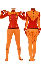 Asuka Langley Soryu Costume | Orange and Red Spandex Lycra Costume