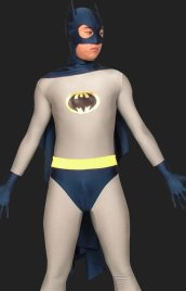 Bat Man! Grey and Dark Blue Lycra Spandex B-guy Zentai Suits