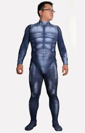 Batfleck | Printed Spandex Lycra B-guy Zentai Suit with 3D Muscle Shades Dawn of Justice