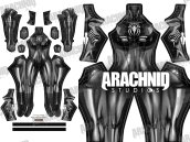 BLACK CAT Symbiote Dye-Sub Printed Spandex Lycra S-guy Costume