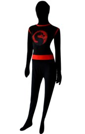 Black Dragon Pattern Superhero Zentai Suit