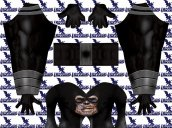 Black Lantern Reverse Flash Printed Spandex Lycra Costume