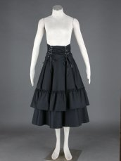 Black Maxi Skirt!Lolita Dress With bowtie on the back