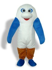 Black,White,Blue,Red And Brown Short-furry Season Animal Mascot Costume
