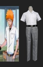 BLEACH-Bleach Ichigo Kurosaki Summer School Uniform Cosplay Costume