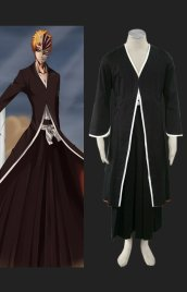 Bleach-Ichigo Cosplay 卍 1th Cosplay Costume (black)