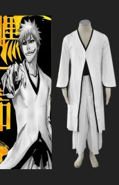 Bleach-Ichigo Cosplay 卍 2th Cosplay Costume (White)