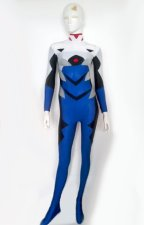 Blue and Black Spandex Lycra Cosplay Zentai Costume