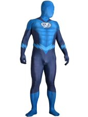 Blue Lantern Flash Costume | Printed Spandex Lycra with 3D Muscle Shading
