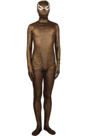Bronze Shiny Zentai Suit | New Fabric with Spider Eyes