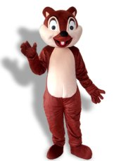 Brown Squirrel With 1 Tooth Mascot Costume