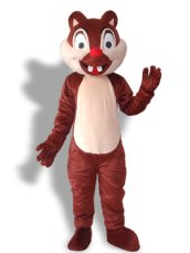 Brown Squirrel With 2 Teeth Mascot Costume