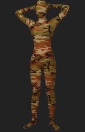 Camouflage Unisex Lycra Spandex Full-body Zentai Suit(Brown)