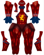 Captain Britain Printed Spandex Lycra Costume