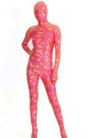 Colorful Shiny Flora Printed Spandex Lycra Zentai Suit