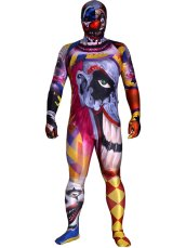 Crazy Clown Printed Spandex Lycra Costume