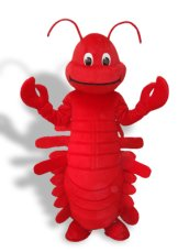 Cute Red Short-furry Sea Animal Mascot Costume