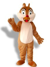Cute Squirrel With Two Teeth Mascot Costume
