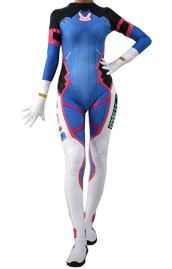 D Va Overwatch Upgraded Costume | Printed Spandex Lycra with Shiny Metallic and Cotton Padding