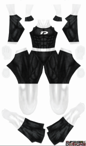 Danny Phantom Printed Spandex Lycra Costume (black and white)