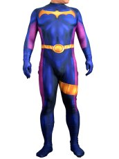 Dark Blue and Fuchsia Printed B-guy Costume with 3D Muscle Shading