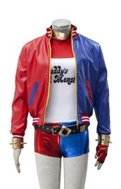 DC Suicide Squad Harley Quinn Cosplay 6-Pieces Costume with Jacket