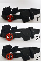 Deadpool Belt with Rubber Symbol