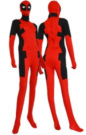 Deadpool Costume | Red and Black Spandex Lycra Zentai Suit