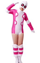 Deadpool Gwen Pink and White Spandex Lycra Costume