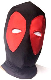 Deadpool Hood | Red and Black Spandex Lycra Hood with Peak