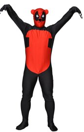Deadpool / Panda Black and Red Spandex Lycra Full Bodysuit