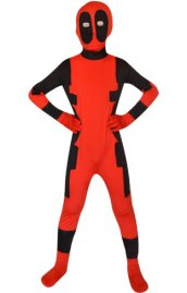 Deadpool Spandex Lycra Kids Zentai Suit