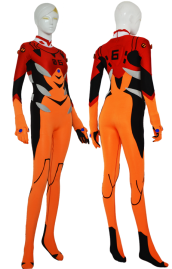 Evangelion Costume | Red and Orange Spandex Lycra Catsuit