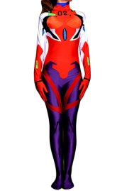 Evangelion Costume | Red and Purple Spandex Lycra Zentai Suit
