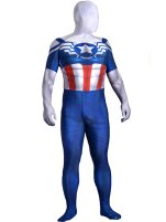 Falcon Captain America Costume | Printed Spandex Lycra with 3D Muscle Shading