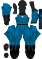 Fantastic 4 Blue Male Muscle Dye-Sub Costume