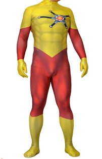 FireStorm Ronnie Rockwell Printed Spandex Lycra Costume with 3D Muscle Shading