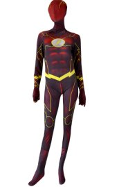 Flash Costume | Printed 3D Muscle Shading Spandex Lycra Zentai Suit