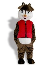Funny Hair Squirrel Mascot Costume