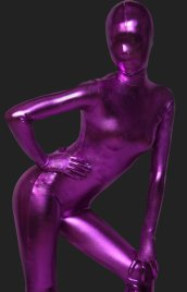Fushia Shiny Full Body Suit | Solid Color Full-body Shiny Metallic Zentai Suits